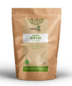 Organic Green Leaf Stevia Powder - Sugar Substitute Replacement | Raw Food Diet