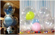 5-10 Redondo Transparente Claro Color Gran Gigante Globo Para Fiesta Boda