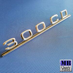 Mercedes Benz W123 300CD trunk lid emblem designation C123 coupe 1238171415