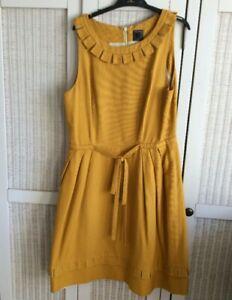 Orla Kiely Mustard Yellow dress Size 10
