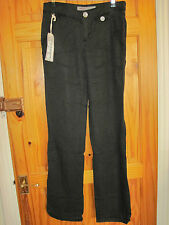 MISS SIXTY 60 Black BANCROFT Trousers size 26 8 long new Stunning MADE IN ITALY