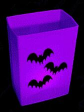 HALLOWEEN LUMINARY - PURPLE HARD SHELL BOX - CANDLES & SCENE - ONE SET