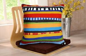 Abstract Stripes SOFT VELVET PILLOW COVER Folk Art Artist KARLA GERARD