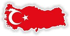 Turkey Turkish Map Flag Sticker for Bumper Skateboard Helmet Door Boat Bike Car