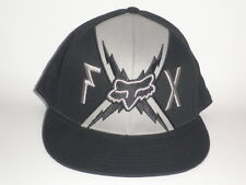 Fox Racing Hat BIG BOLTZ Black Grey Small/Medium ($28) NEW Flex BMX Moto Cap MX