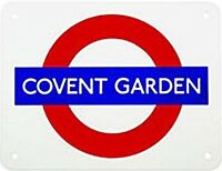 """ Covent Giardino "" London Underground Rotondi Smalto Firmare Medio ( Gg )"