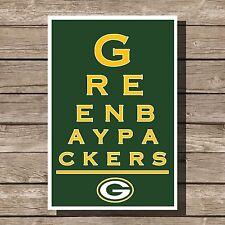 "Green Bay Packers Poster NFL Football Art Print 12x16"""
