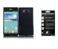 Screen Protector + Black TPU Cover Phone Case for LG Optimus Ultimate L96G