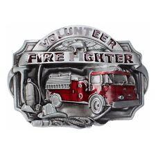Vintage Fire Fighter Belt Buckle Western Cowboy Native American (FDT-02)