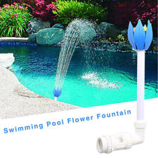 Pool Central Adjustable Blue White Yellow Flower Fountain for Pool Spa CA