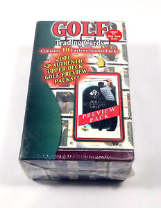 2001 SP Authentic Golf Preview Box Sealed (10 Packs)