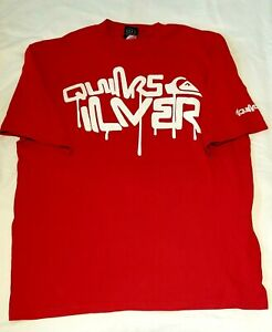 QUICKSILVER T SHIRT RED SIZE XL