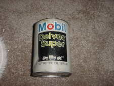 VINTAGE MOBILE DELVAC SUPER 1 QUART CARDBOARD 60s 70s EMPTY MOTOR OIL CAN