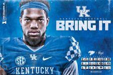 2019 KY University of Kentucky Wildcats Football Schedule/Poster Lynn Bowden