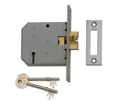 "Union Sliding Door Lock 3 Lever Dead Claw Hook Bolt Key 2477 Slide Deadlock 3"""
