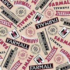 Farmall Show ''Farmall Word'' Cream Print Fabric