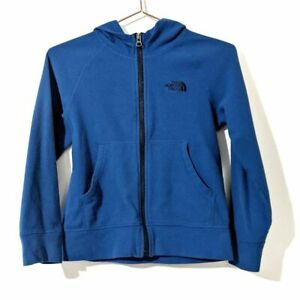 The North Face Zip Up Hoodie Fleece Blue Size 7/8