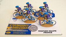 """PLAQUETTE 6 COUREURS   """"L'ÉCHAPPÉE INFERNALE""""  TROPHÉE ÉQUIPE DE FRANCE  2010"""