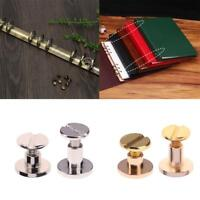 20pcs Belt Screw Leather Craft Chicago Nail Brass Rivets Stud Head Wallet Round