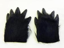 BLACK Hairy GORILLA MANI SCIMMIA HALLOWEEN FANCY DRESS King Kong Accessorio