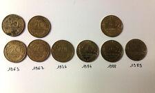 9 pièces 20 cts : 1963-67-76-84-88-89 - LAGRIFFOUL