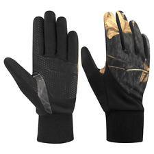 Gloves Mens Black Realtree Stretch Fleece Touch Large