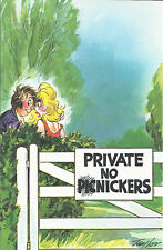 Vintage 1970's Bamforth COMIC Postcard (as new condition-Private no nickers #461