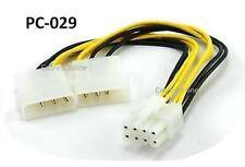 8 inch Dual 4-Pin Molex to 8-Pin EPS Power Adapter Cable - CablesOnline  PC-029