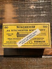 Rare Winchester 1892 Yellow Label Ammo Box 2pc! 44-40 1880's Empty With Gift
