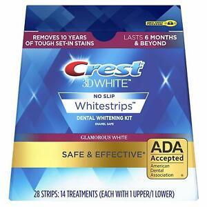 Crest3D White Glamorous Teeth Whitening Strips - New Box