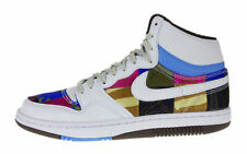 NIKE COURT FORCE HI PREMIUM SNEAKERS TRAINER WOMEN SHOES WHITE ART SIZE 10 NEW
