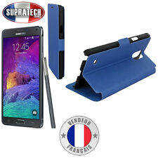 Etui Rabattable Bleu Avec Support pour Samsung Galaxy Note 4 N910