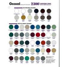 Geocel 2300 Construction Tripolymer Sealant Color Sheet