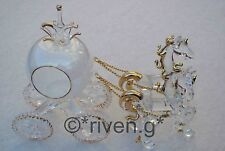 CINDERELLA HORSES AND PUMPKIN CARRIAGE GLASS GIFT@PRINCESS FAIRYTALE CAKE TOPPER