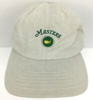 Masters Cap Augusta National Golf Hat Logo USA American Needle Baseball Beige