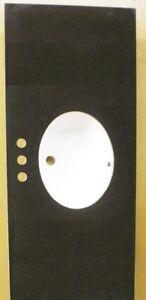 """Black Bathroom Vanity Base Single Oval SHAPE 4"""" spread Sink  Granite Top 61"""""""