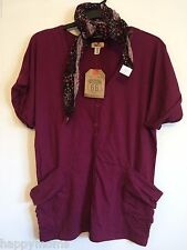 NWT Route 66 Women's 100% Cotton Short Sleeve Dolman Cardigan Knit Scarf Size L