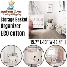 Large Woven Cotton Rope Storage Basket Laundry Organizer Bin Blanket Toy Bag NEW