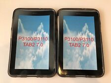 """New Lot of 2x Samsung Galaxy Tab 2 Silicone Back Cover Case for P3100/P3110 7"""""""