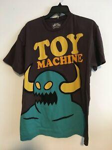 Toy Machine T Shirt Brown - Size Medium