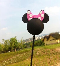 Cute Pink Mickey Minnie Antenna Balls Car Aerial Ball Antenna Topper Decor Ball