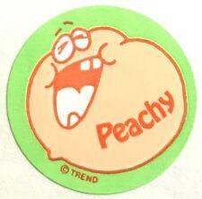 Vintage 80s Matte Trend Scratch & Sniff Sticker - Peach - Mint!!