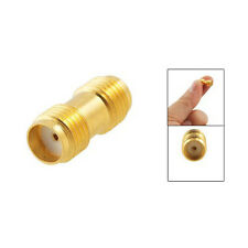 Gold Metal Straight SMA Female to Female Jack RF Adapter Connector New