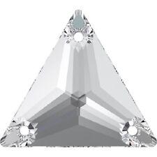 3 Pietre in Cristallo TRIANGOLARE da cucire a 3 fori - mm 16 CRYSTAL