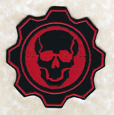 GEARS OF WAR Video Game Skull and Cog Red Omen Logo Emblem Iron-on PATCH