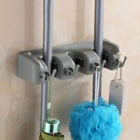 Wall Mounted Kitchen Mop Broom Holder Organizer Brush Storage Hanger Rack Tool