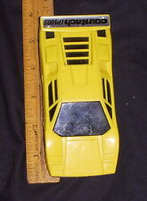 LAMBORGHINI COUNTACH LP500S Vintage Japan RC Car Yellow Matsushiro plastic
