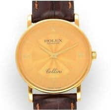 Vintage 18Carat Gold Rolex Gents Cellini Watch 5115 - 2001 Perfect Condition
