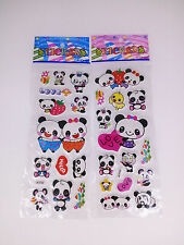 2 X sheet cartoon panda stickers lot Kids favor Bithday party Paper Crafts gift