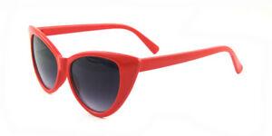 Rockabilly Cat Eye Women's Ladies Sunglasses Retro Vintage 80's 70's Trendy B3